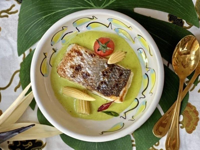 curry verde de lubina Aquanaria