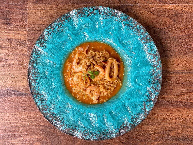 arroz caldoso con marisco y pescado