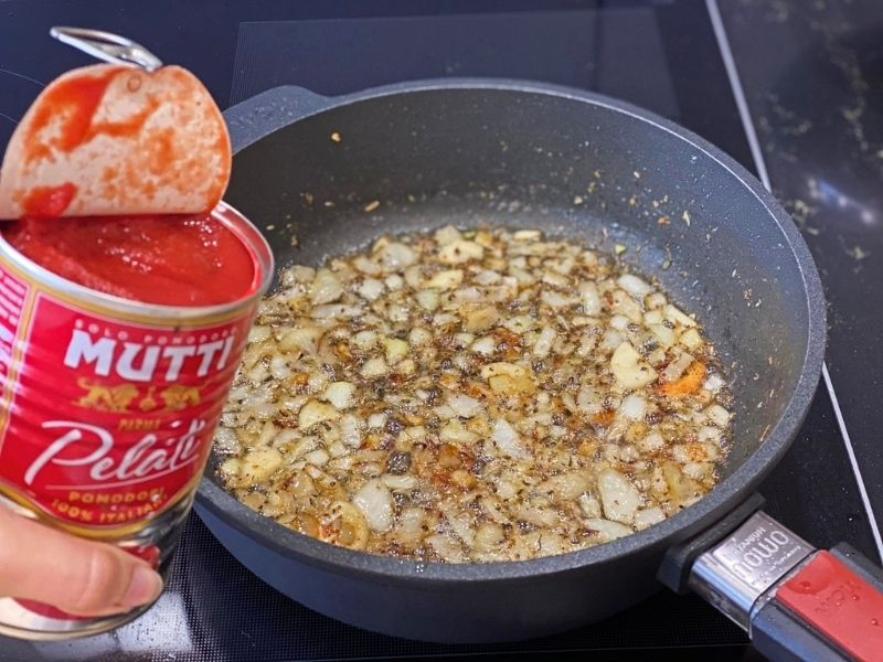 pasta amatriciana salsa tomate