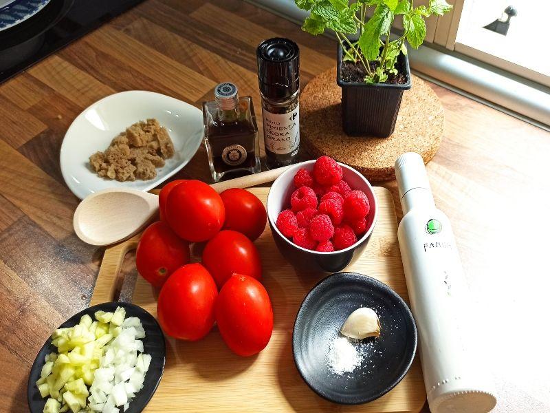 gazpacho frambuesas ingredientes