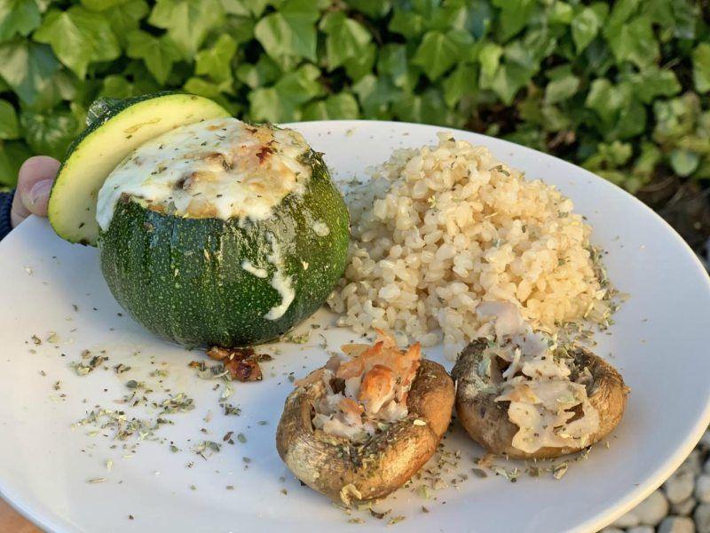recetas vegetarianas calabacín relleno