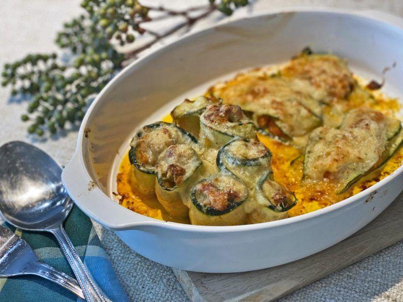 recetas vegetarianas calabacines-rellenos