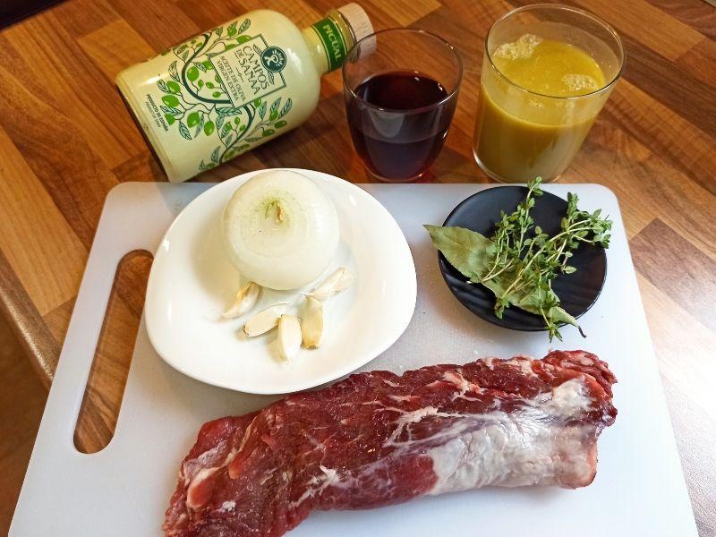 solomillo de cerdo en salsa-ingredientes