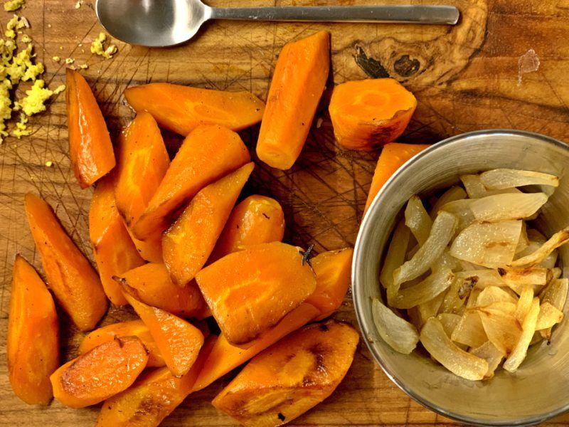 Aliño para ensalada con zanahorias
