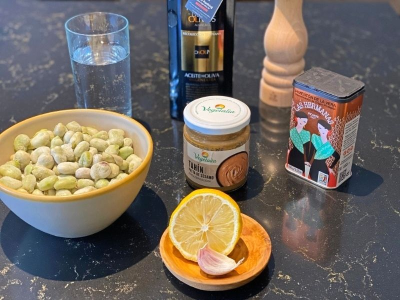 ingredientes hummus habas