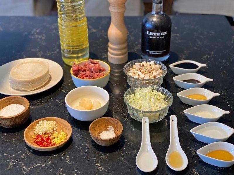 ingredientes receta gyozas de wagyu