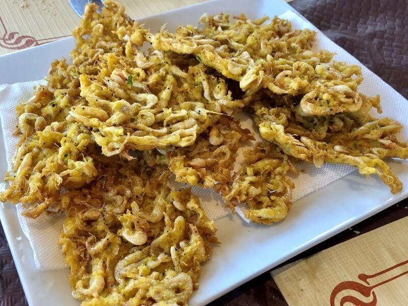 RESTAURANTES CADIZ REJAS tortilla camarones