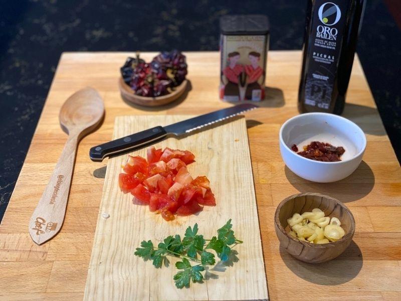 ingredientes salmorreta arroz con lubina