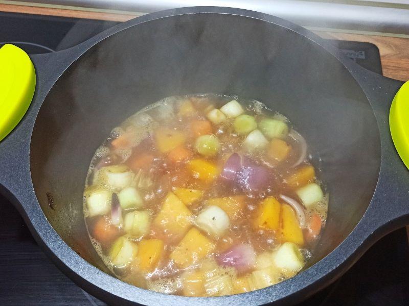crema de verduras-elaboración