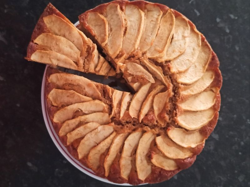 bizcocho de manzana- mama
