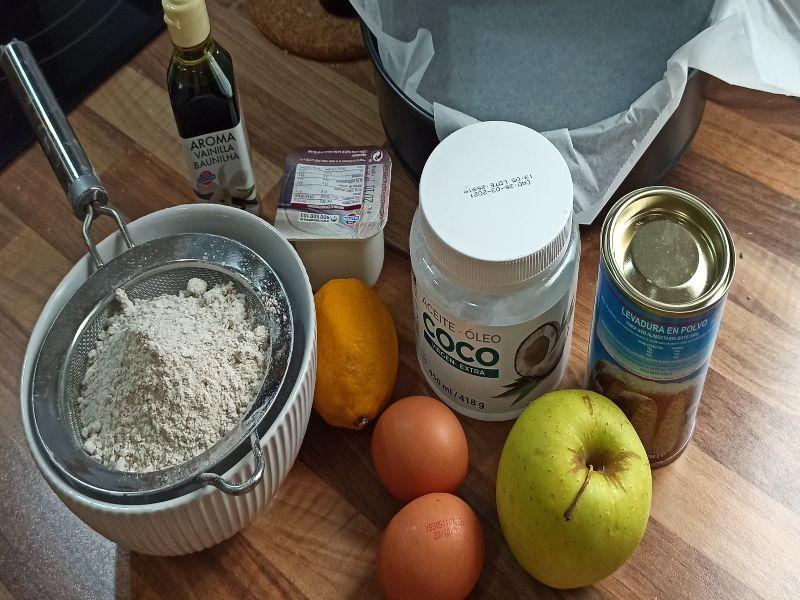 bizcocho de manzana-ingredientes