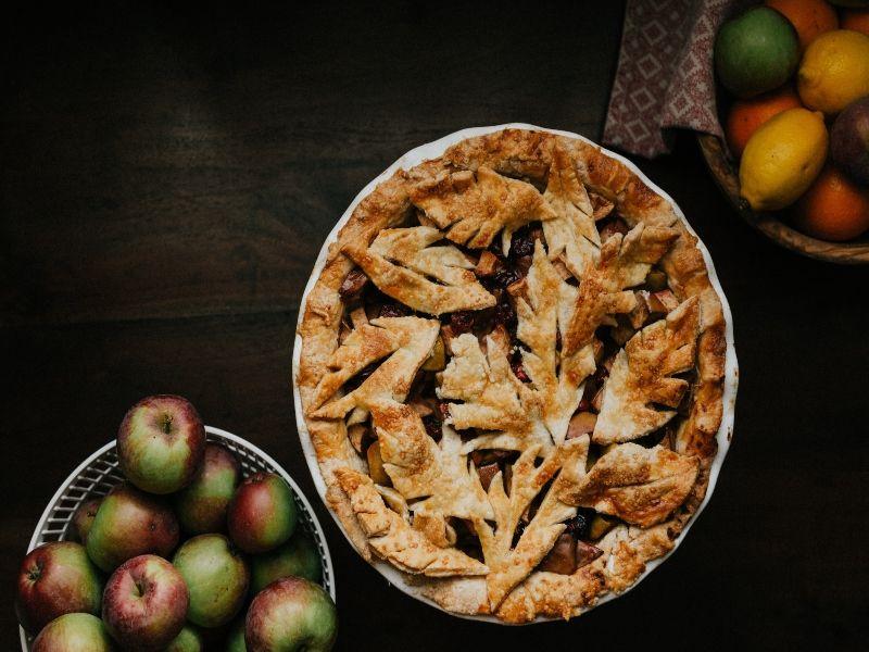 bizcocho de manzana-tarta de manzana