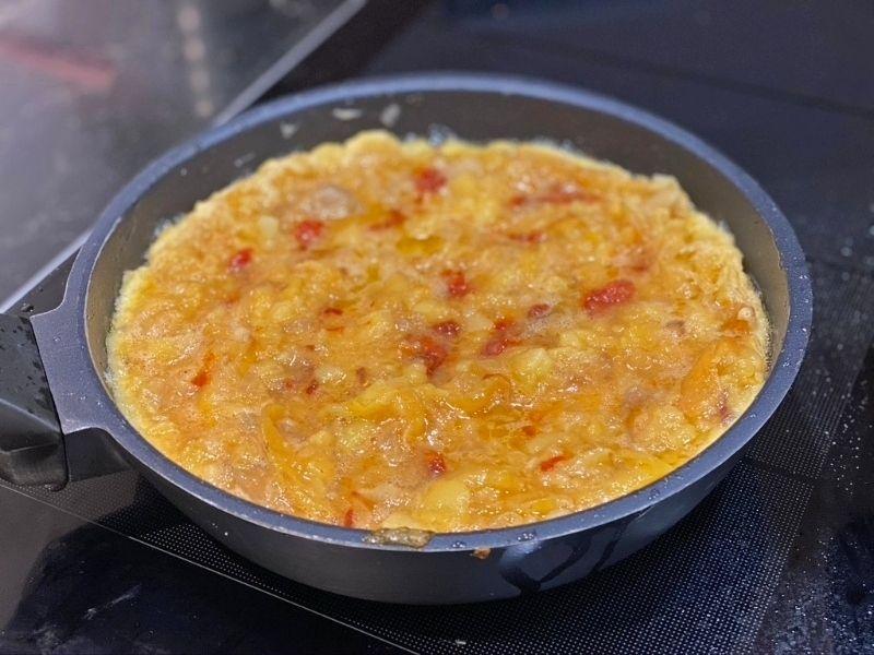tortilla de patata y sobrasada