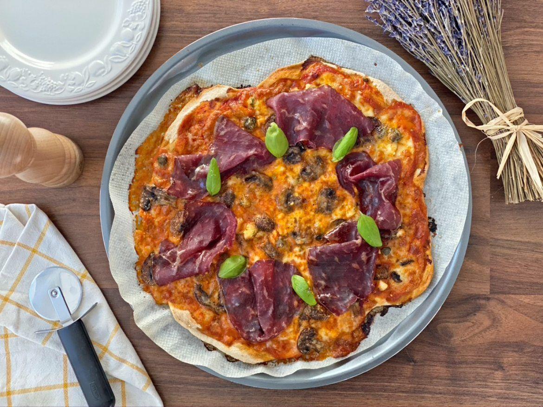 receta pizza de cecina