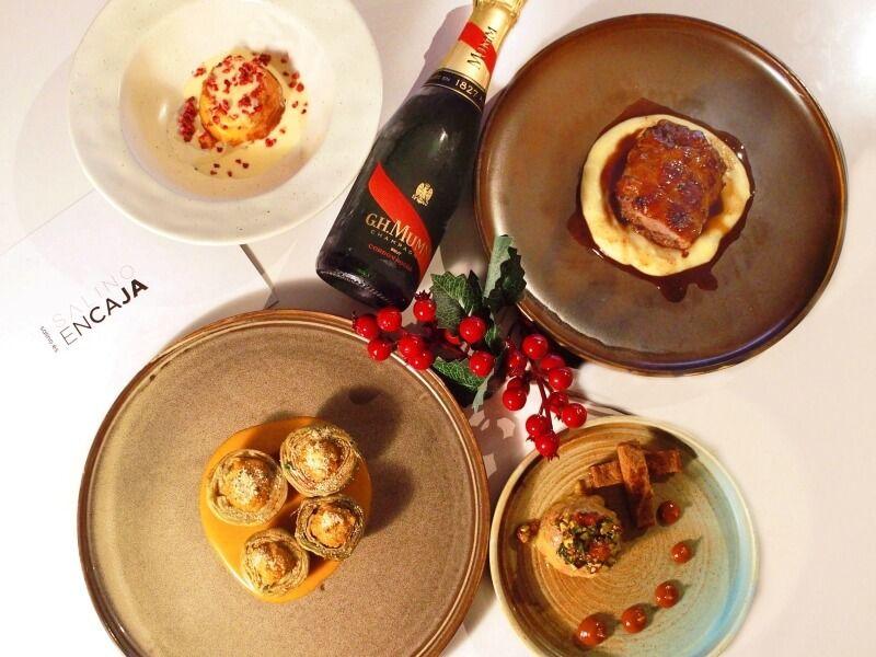 SALINO ENCAJA - comida navideña a domicilio en Madrid