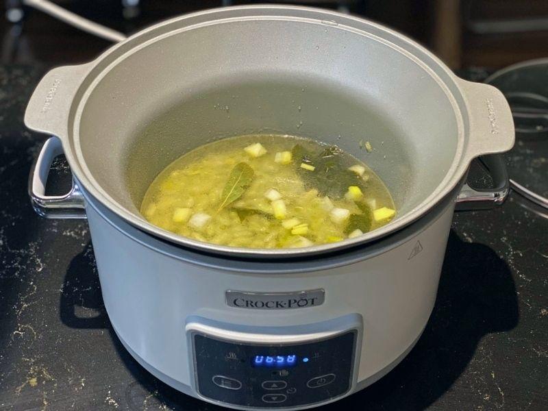 verdinas con almejas crock pot