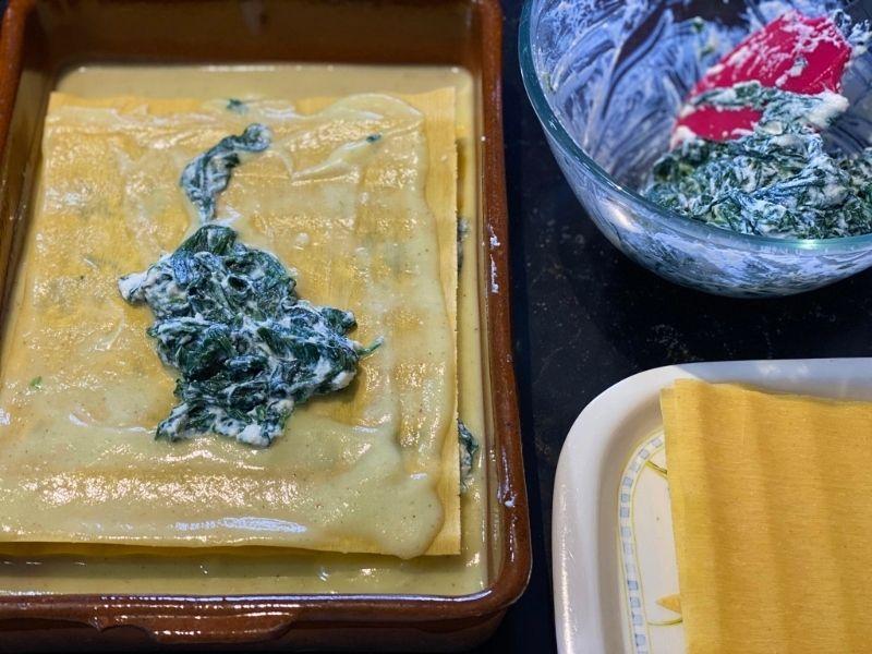 lasaña de espinacas y ricotta ingredientes