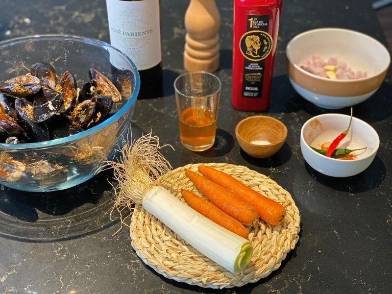 mejillones escabeche ingredientes
