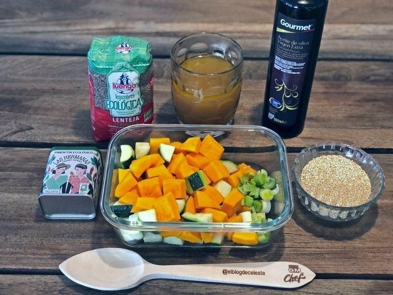 lentejas con quinoa ingredientes