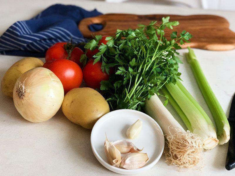 Ingredientes para sopa depurativa