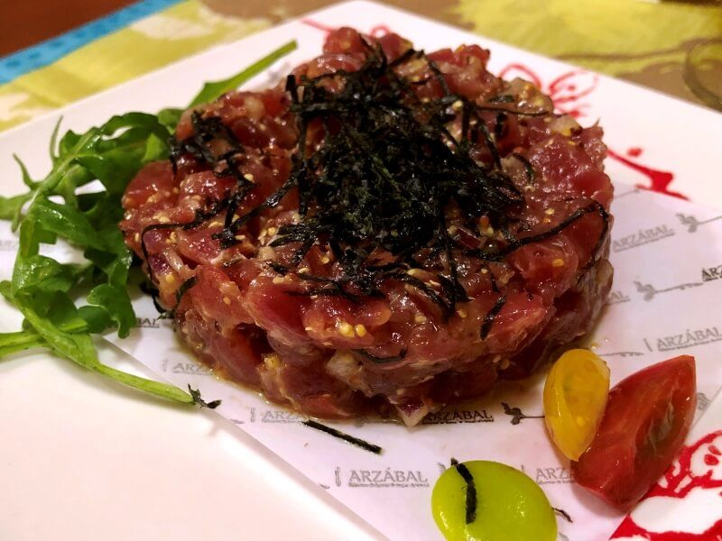 ARZABAL tartar - comida española a domicilio en madrid
