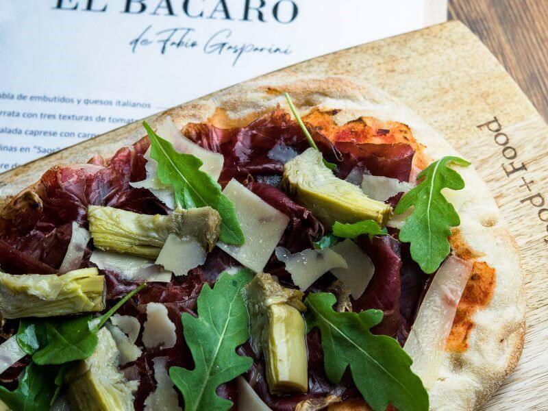 BACARO DE FABIO GASPARINI pinsa cecina- comida italiana a domicilio en madrid