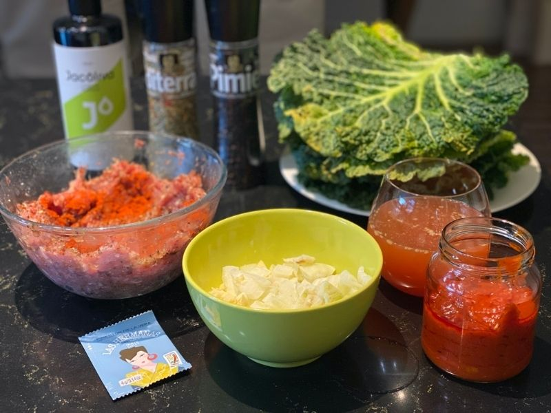 ingredientes rollitos de col