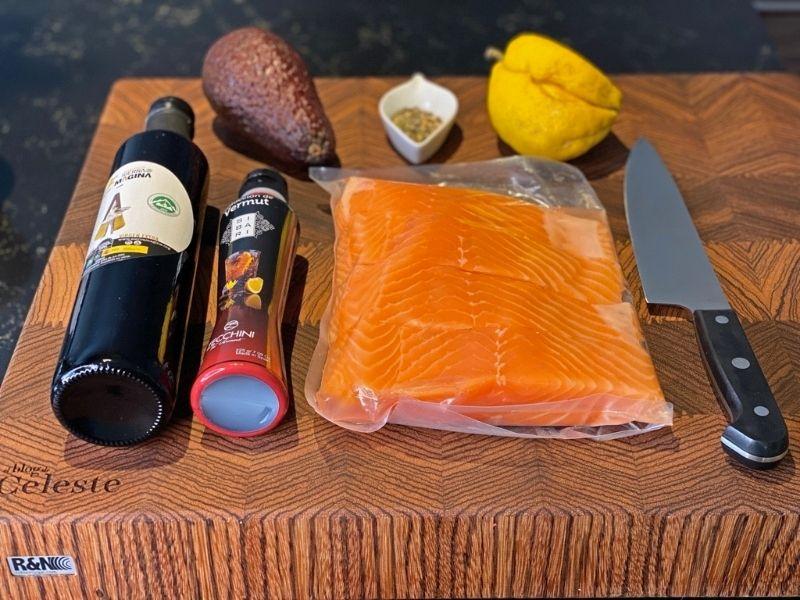 tartar de salmón ingredientes
