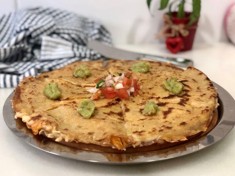 APPETEZE quesadilla quinoa y mijo -Comida saludable a domicilio en Madrid