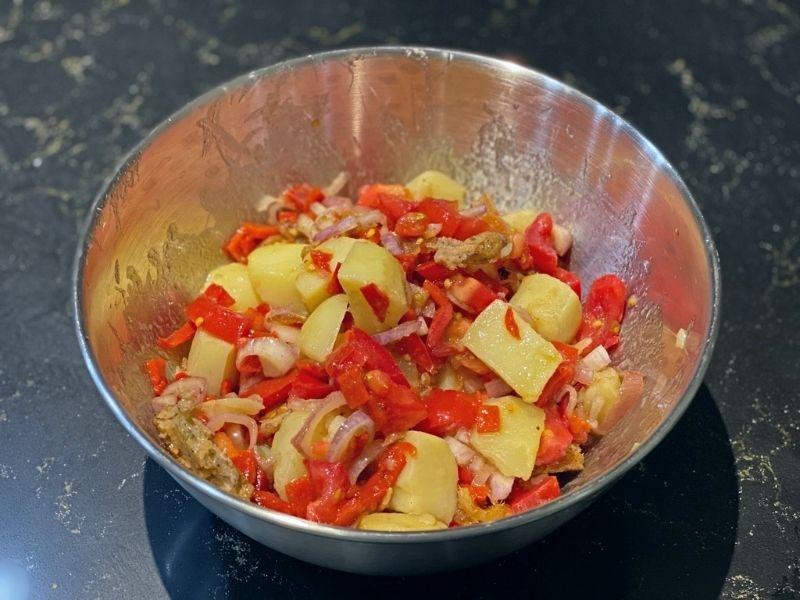 pescado seco ensalada payesa