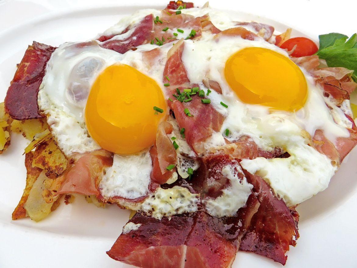 huevos con jamón iberico