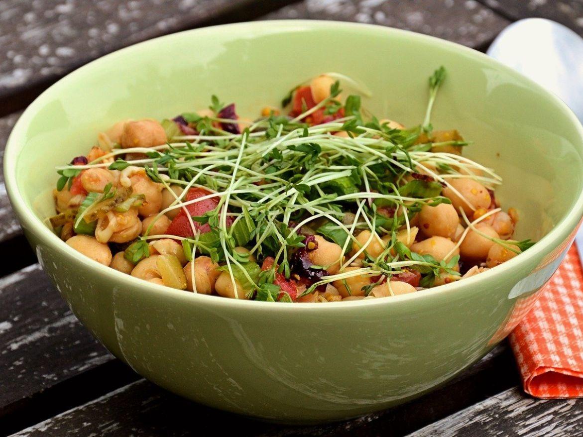 garbanzos con verduras receta