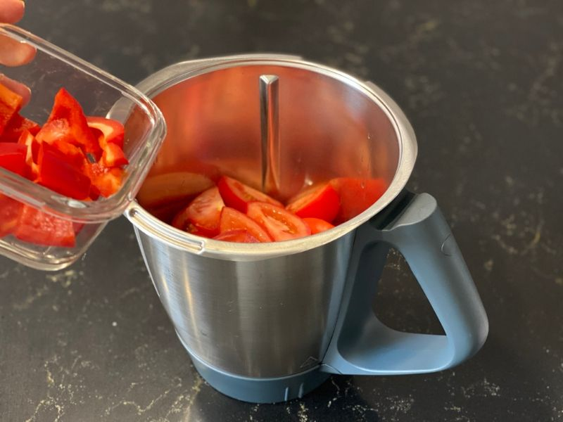 gazpacho receta pimiento
