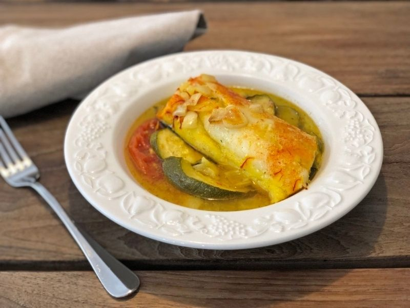 bacalao recetas con calabacín
