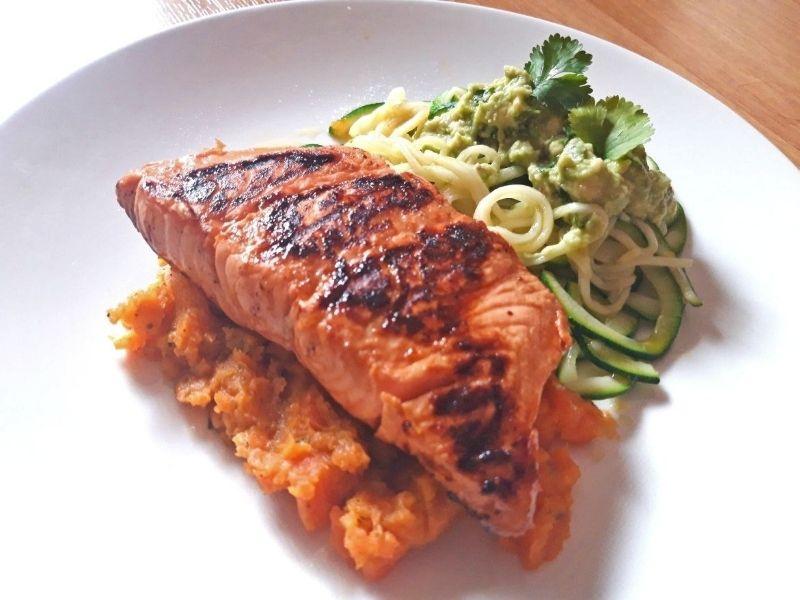 recetas-con-calabacín y salmón