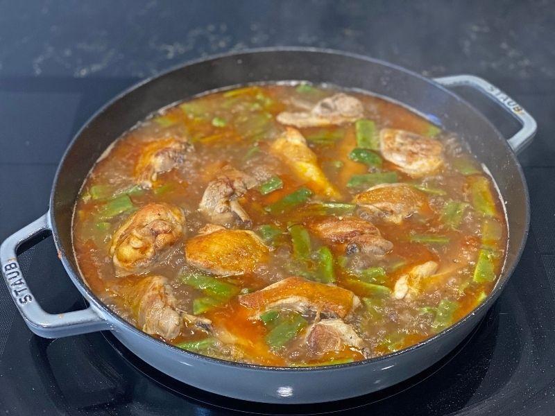 caldo ingredientes paella valenciana