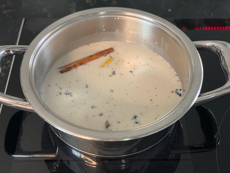 ingredientes receta natillas de vainilla