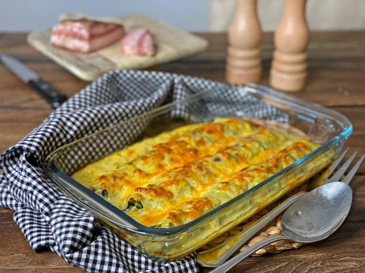receta de canelones espinacas