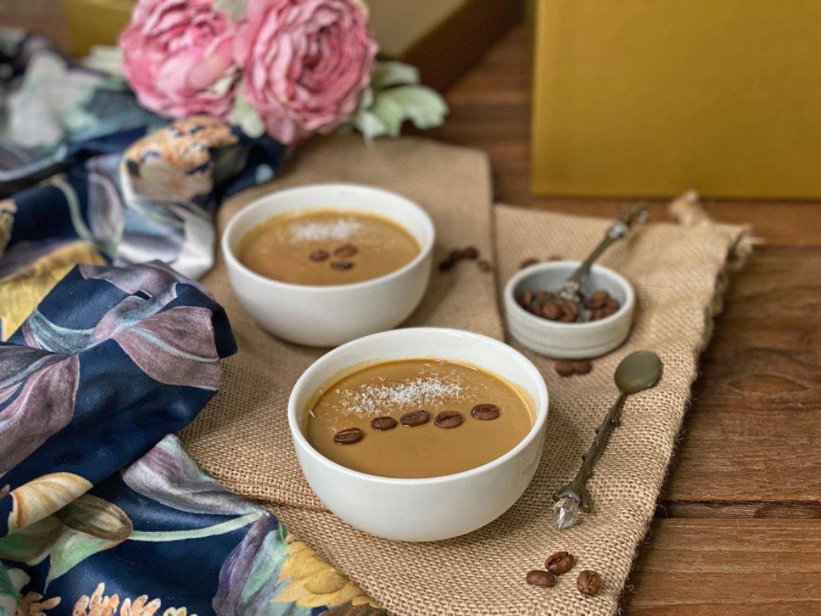 receta natillas café
